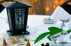 Running on a theme: Each table looked to a different Disney title ............. yay for Peter Pan weddings ........ this would be cute for a kids birthday party