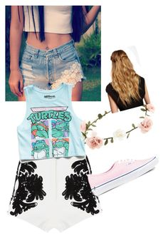 Pastel Turtle by jordanfashion14 on Polyvore featuring polyvore, fashion, style, Forever 21, Levi's, Cameo, Vans, Accessorize and Natasha Accessories