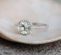 Yellow sapphire ring 1.36ct unheated sapphire by EidelPrecious