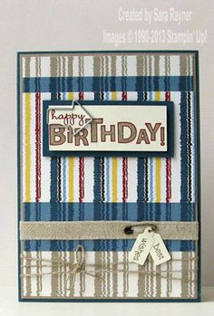 Manly clip birthday card - Stampin' Up!