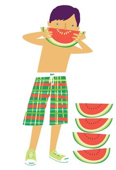 Watermelon boy, Bali ©Tania Willis