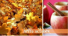 We love October and apples!!!