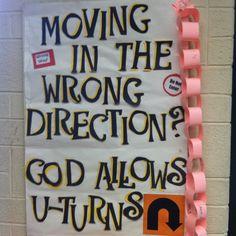 Bulletin board in my classroom.