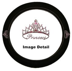 Pink Princess w Cute Crown Gem Crystal Studded Rhinestone Bling Car Truck SUV Steering Wheel Cover *** Read more reviews of the product by visiting the link on the image.Note:It is affiliate link to Amazon.