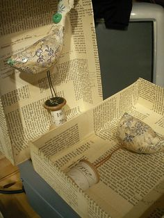 Papier Mache boxes...make them and gather picts of target words and let my artic kids decorate boxes over the month :)