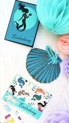 3 Verschiedene Einladungen Für Eine Meerjungfrauen Party | Inkl. Vorlagen  Zum Download