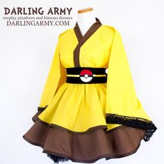 Pikachu Cosplay Kimono Dress Wa Lolita Skirt Accessory | Darling Army