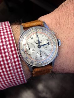 omegaforums: Brilliant Vintage Bovet Chronograph In Stainless Steel