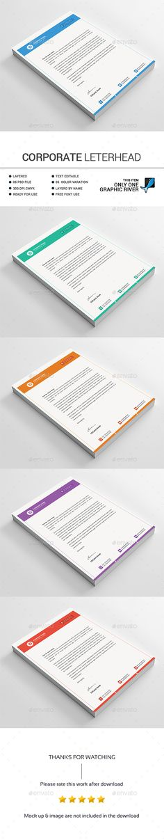 Corporate Letterhead Template Word, PSD, Ai and EPS Format - psd letterhead template