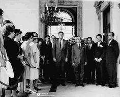 Visita oficial de JFK a Venezuela, junto a su homologo Romulo Betamcourt