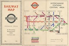 vintage tube map. <3 - done with the T for welcome bags