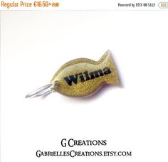 2016 SALE Gold Fish Cat Tag  Custom Color  by GabriellesCreations