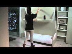 Nuovoliolà - Arredamento trasformabile con letto,divano e libreria - Clei