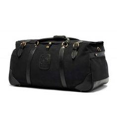 Leather Suitcase | Kilburn III No. 157 Black Twill | Ghurka
