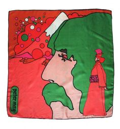 PETER MAX Silk Scarf, 1970s