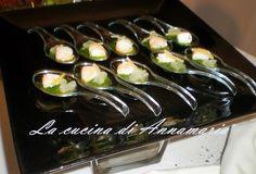 gamberoni in salsa verde fingerfood