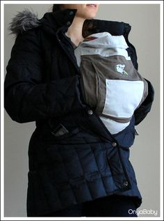 Safe winter babywearing with an Onya Baby carrier.