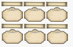 Free Printable Parchment Labels.