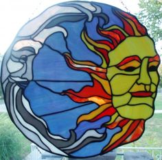 Image detail for -Sun and Moon Glass Art by Liz Shepard - Sun and Moon Fine Art Prints ...