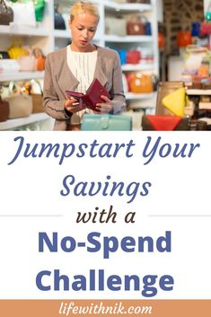 Save money with a no-spend challenge. Jumpstart your money-saving habits with a weekend, week or no-spend challenge. Ways To Save Money, Money Tips, Money Saving Tips, Saving Ideas, No Spend Challenge, Money Saving Challenge, Living On A Budget, Frugal Living, Saving For Retirement