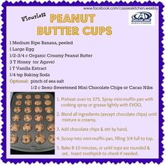 Peanut Butter Cups www.cassieskitchen.weebly.com www.advocare.com/13081673