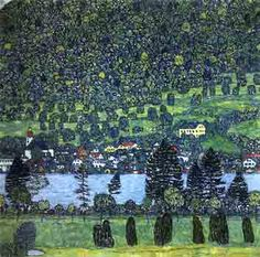 Gustav Klimt. Forest slope in unterach on the attersee