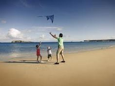 Kites on the #beach #playing