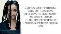 Rihanna - Work ft. Drake (lyrics) - YouTube