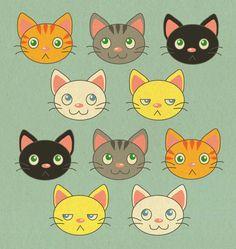 Cat Pattern www.donutwings.com