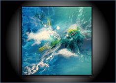I'm obsessed with the sea. Abstract painting