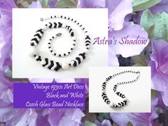 astrasshadow - Twitter Search Twitter Tweets, Czech Glass Beads, Beaded Necklace, Art Deco, Black And White, Search, Vintage, Jewelry, Beaded Collar