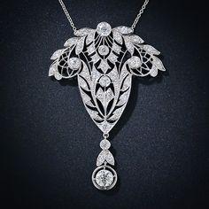 Platinum and Diamond Edwardian Necklace
