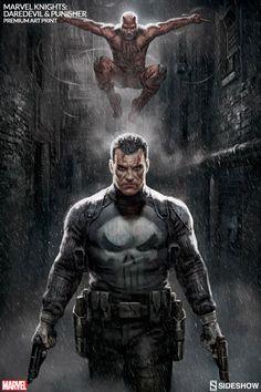 Marvel Knights: Punisher & Daredevil Art Print