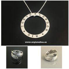 2 Linked Circles D/ía de la Mujer Mam/á Collar Regalo para Madre Cumplea/ños D/ía de la Madre