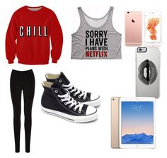 """Netflix"" by leahb109 ❤ liked on Polyvore featuring moda, Converse, Oasis ve Lipsy"