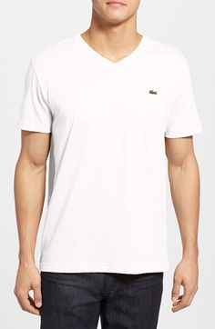 Lacoste Lacoste Pima Cotton Jersey V-Neck T-Shirt available at #Nordstrom