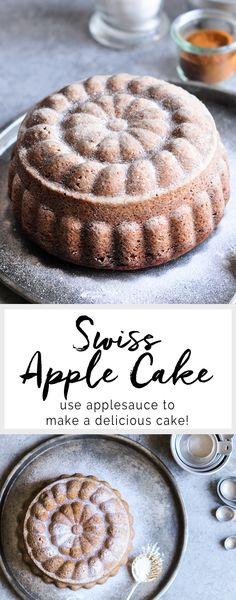 Swiss Apple Cake   Applesauce Cake   eatlittlebird.com