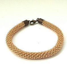 Bracelet crochet with toho beads