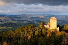 Hrad Kašperk   přírodní park Kašperská vrchovina