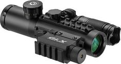 Barska 4x30 IR Electro Sight w/ LED Flashlight Combo Pack GLX Green : DA12188