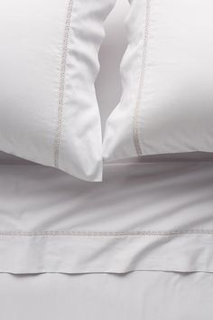 Slide View: 1: Sateen Hemstitch Sheet Set