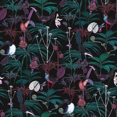 Xanadu - Dark Cotton Satin Fabric