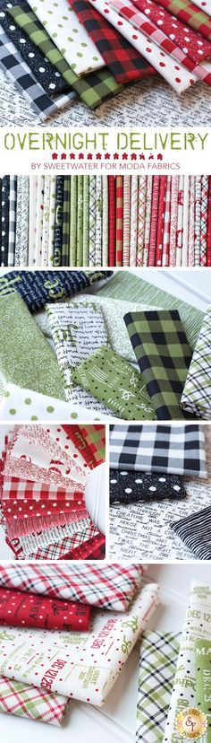 Overnight Delivery by Sweetwater for Moda Fabrics | Christmas Fabric | Shabby Fabrics