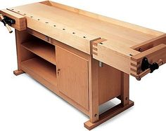 How Bench Woodworking Plans Transform an Empty Space Into a Well Organized Area - How To Build A Woodworking Workbench – DIY Wood Working Project Building A Workbench, Workbench Plans, Woodworking Workbench, Woodworking Projects, Folding Workbench, Workbench Table, Woodworking Tools For Beginners, Garage Workbench, Woodworking Techniques