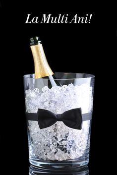 Champagne Bucket with Bow Tie 65th Birthday, Happy Birthday, Pinterest Decorating, Gold Bow Tie, Champagne Buckets, Happy Anniversary, Royalty Free Images, Party Themes, Barware