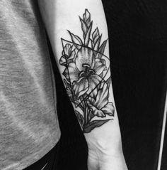 Blackwork Gladiolus - Tattooed by Noelle LaMonica - The Howling Mine - Buffalo NY