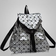 New Fashion Diamond Lattice Backpack For Teenage Girls