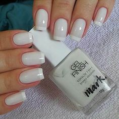 50 Awesome French Tip Nails to Bring Another Dimension to Your Manicure - Best Nail Art Shellac Pedicure, French Manicure Nails, French Tip Nails, Pedicure Ideas, Perfect Nails, Gorgeous Nails, Pretty Nails, White Nails, Pink Nails