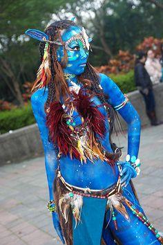 avatar Cosplay / wanna be Avatar Cosplay, Vi Cosplay, Cosplay Girls, Cosplay Costumes, Avatar Halloween Costume, Avatar Costumes, Halloween Cosplay, Cool Costumes, Avatar Movie