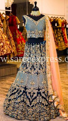 Designer Bridal Lehenga Choli Online Shopping, Bridal Lehenga With Heavy Work. Indian Lehenga, Indian Wedding Lehenga, Bridal Lehenga Choli, Pakistani Bridal Dresses, Indian Wedding Outfits, Red Lehenga, Bridal Outfits, Indian Dresses, Indian Outfits